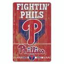 Philadelphia Phillies Sign 11x17 Wood Slogan Design