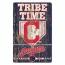 Cleveland Indians Sign 11x17 Wood Slogan Design