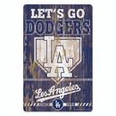 Los Angeles Dodgers Sign 11x17 Wood Slogan Design