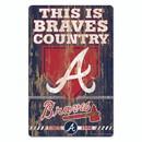 Atlanta Braves Sign 11x17 Wood Slogan Design