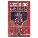 Los Angeles Angels Sign 11x17 Wood Slogan Design