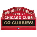 Chicago Cubs Wood Sign - 11 in x 17 in - Wrigley Field