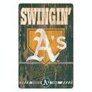 Oakland Athletics Sign 11x17 Wood Slogan Design
