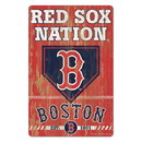 Boston Red Sox Sign 11x17 Wood Slogan Design