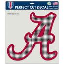 Alabama Crimson TideA?Decal 8x8 Perfect Cut Color