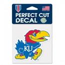 Kansas Jayhawks Decal 4x4 Perfect Cut Color