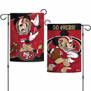 San Francisco 49ers Flag 12x18 Garden Style 2 Sided Disney Special Order