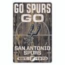 San Antonio Spurs Sign 11x17 Wood Slogan Design