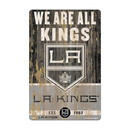 Los Angeles Kings Sign 11x17 Wood Slogan Design