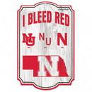 Nebraska Cornhuskers Wood Sign - College Vault - 11