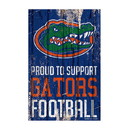 Florida Gators Sign 11x17 Wood Proud to Support Design