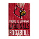Louisville Cardinals Sign 11x17 Wood Proud to Support Design