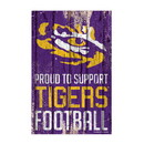 LSU Tigers Sign 11x17 Wood Proud to Support Design