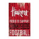 Nebraska Cornhuskers Sign 11x17 Wood Proud to Support Design