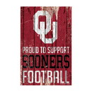 Oklahoma Sooners Sign 11x17 Wood Proud to Support Design