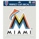 Miami Marlins Decal 8x8 Color New Logo
