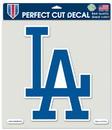 Los Angeles Dodgers Decal 8x8 Die Cut Color