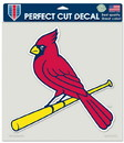 St. Louis Cardinals Decal 8x8 Die Cut Color