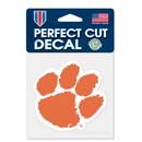Clemson Tigers Decal 8x8 Die Cut Color