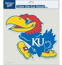 Kansas Jayhawks Decal 8x8 Die Cut Color