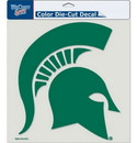 Michigan State Spartans Decal 8x8 Die Cut Color