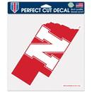 Nebraska Cornhuskers Decal 8x8 Die Cut Color