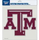 Texas A&M Aggies Decal 8x8 Die Cut Color