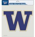 Washington Huskies Decal 8x8 Die Cut Color