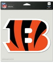 Cincinnati Bengals Decal 8x8 Die Cut Color