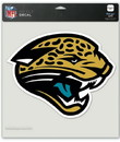 Jacksonville Jaguars Decal 8x8 Die Cut Color