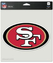 San Francisco 49ers Decal 8x8 Die Cut Color