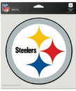 Pittsburgh Steelers Decal 8x8 Die Cut Color