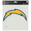 Los Angeles Chargers Decal 8x8 Perfect Cut Color