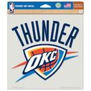 Oklahoma City Thunder Decal 8x8 Die Cut Color