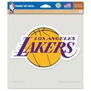 Los Angeles Lakers Decal 8x8 Die Cut Color