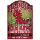 Mississippi Rebels Sign 11x17 Wood Fan Cave Design Special Order