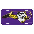 East Carolina Pirates License Plate Plastic Pirate State Logo Design