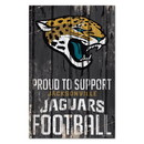 Jacksonville Jaguars Sign 11x17 Wood Proud to Support Design