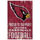 Arizona Cardinals Sign 11x17 Wood Proud to Support Design