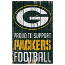 Green Bay Packers Sign 11x17 Wood Proud to Support Design