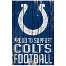Indianapolis Colts Sign 11x17 Wood Proud to Support Design