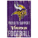Minnesota Vikings Sign 11x17 Wood Proud to Support Design