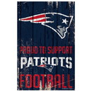 New England Patriots Sign 11x17 Wood Proud to Support Design