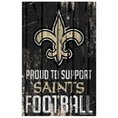New Orleans Saints Sign 11x17 Wood Proud to Support Design