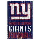 New York Giants Sign 11x17 Wood Proud to Support Design