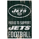 New York Jets Sign 11x17 Wood Proud to Support Design