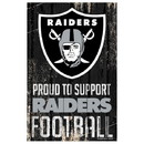 Oakland Raiders Sign 11x17 Wood Proud to Support Design