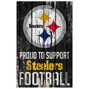 Pittsburgh Steelers Sign 11x17 Wood Proud to Support Design