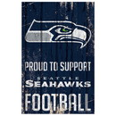 Seattle Seahawks Sign 11x17 Wood Proud to Support Design