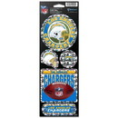 Los Angeles Chargers Decal 4x11 Die Cut Prismatic Style